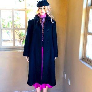 ⛄️ Warm Black Long Wool Coat